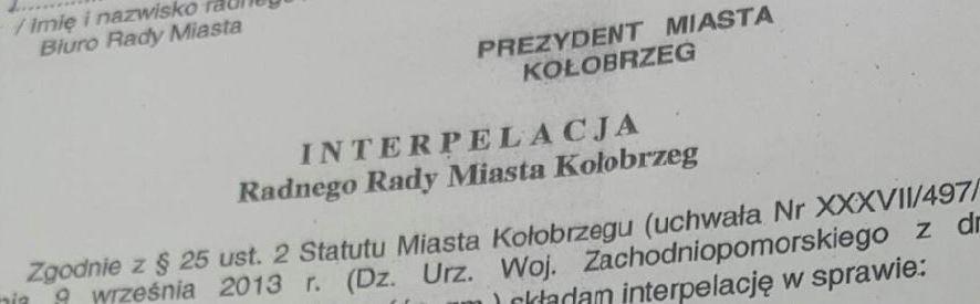 Interpelacja w sprawie wyceny Baszty
