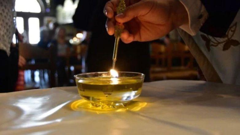 Ιερό Ευχέλαιο στον Ι.Ν. Παναγίας Πρασίνου Λόφου Ν. Ηρακλείου