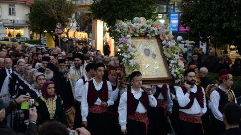 Η Επίσημη Υποδοχή της Ιεράς Εικόνος Παναγίας «Βηματάρισσας» στην Ι.Μ. Νέας Ιωνίας και Φιλαδελφείας