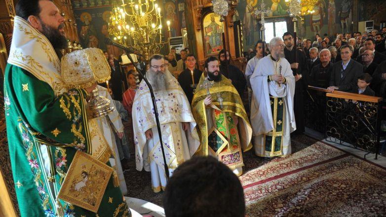 Κυριακή της Σταυροπροσκυνήσεως στον Ι.Ν. Ζωοδόχου Πηγής Καλογρέζας