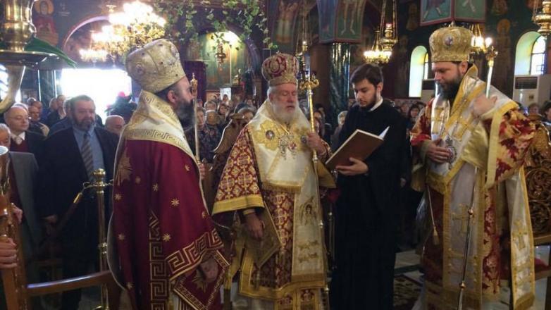 Πανηγυρική Πολυαρχιερατική Θεία Λειτουργία επι τη μνήμη του Αγίου Γεωργίου Νεαπολίτου στη Ν Ιωνια