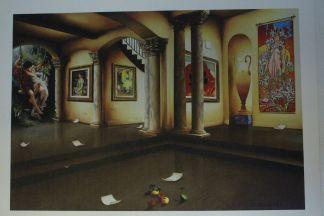 "Orlando Quevedo Giclée - Lights of Love Painting -  Size: 21""L x 13.5""W"