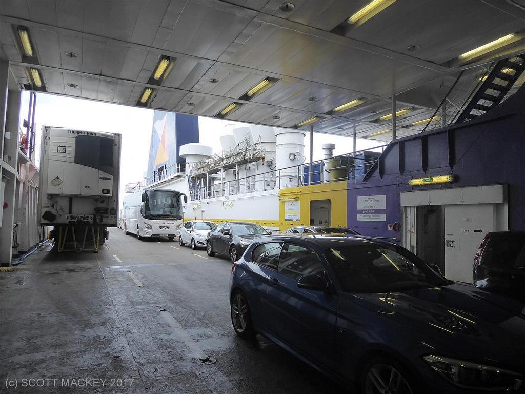 Upper vehicle deck, European Seaway. Copyright © Scott Mackey.