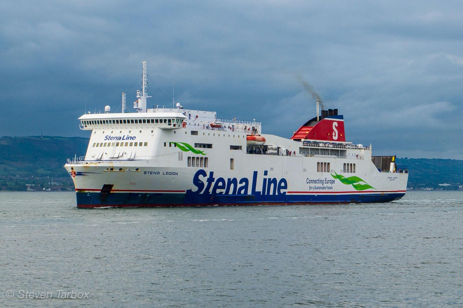 STENA LAGAN arriving in Belfast. Copyright © Steven Tarbox.