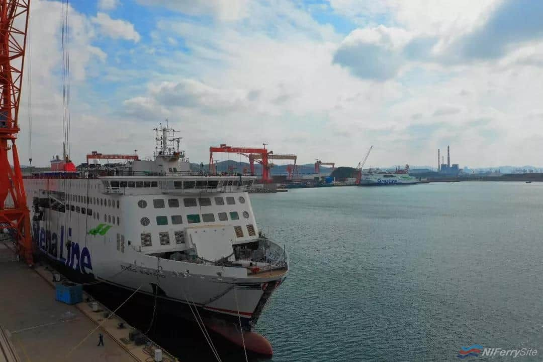 In this view taken at AVIC Weihai STENA ESTRID can be seen in the foreground with STENA EDDA in the background. AVIC ship