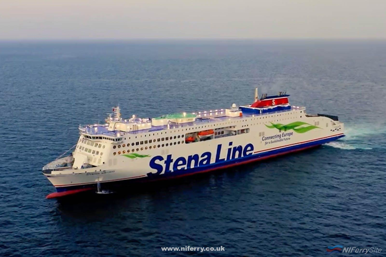 The first Stena E-Flexer, STENA ESTRID, on sea trials. China Merchants (video screenshot)