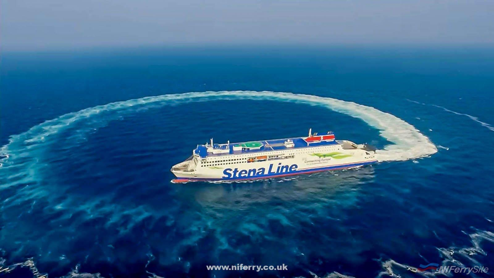 STENA ESTRID completes a manoeuvre during her trials. China Merchants (video screenshot)