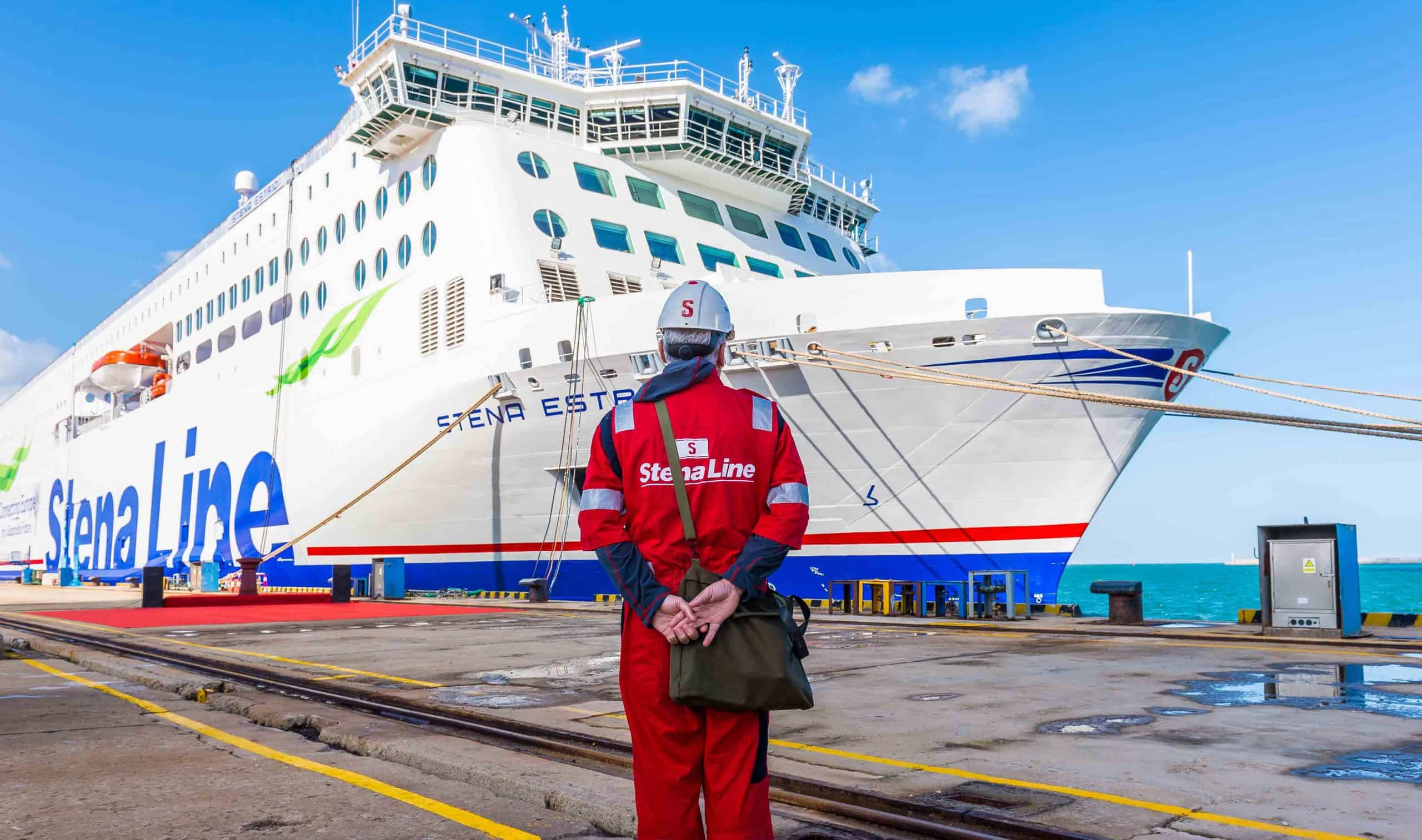 STENA ESTRID is pictured at the AVIC Weihai shipyard in China before its official handover to leading ferry company Stena Line
