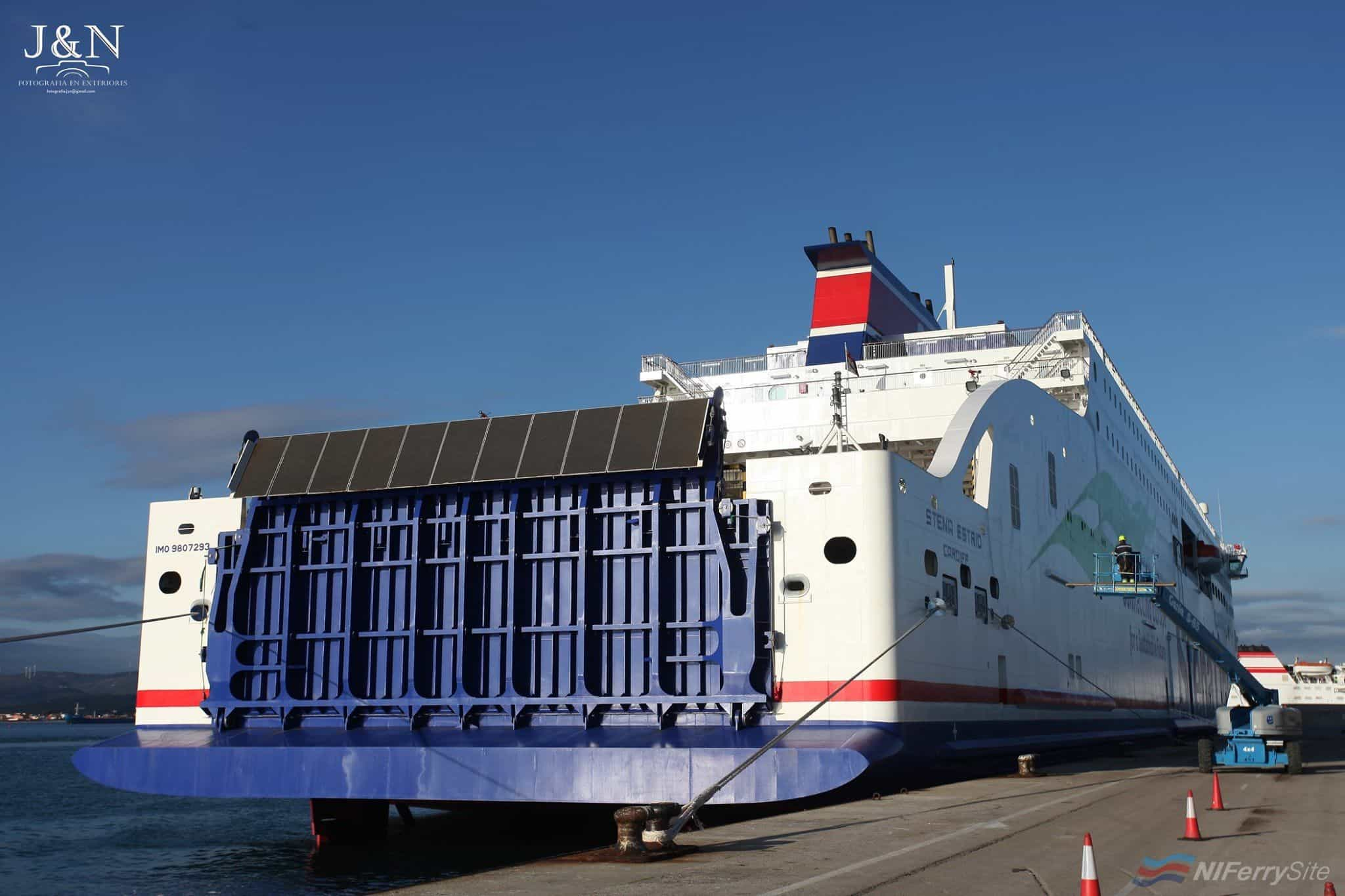 STENA ESTRID at Algeciras just prior to her port of registry being changed. Copyright © Juan G. Mata.