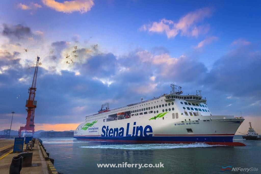 STENA ESTRID on sea trials at AVIC Weihai. Stena
