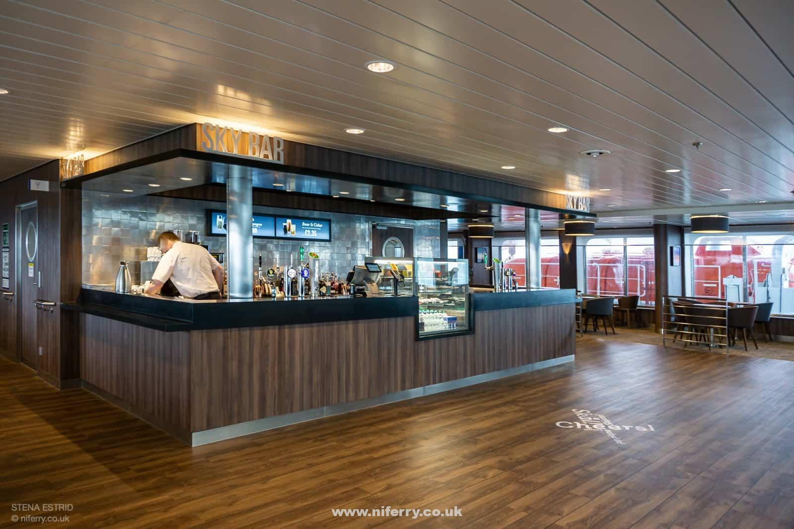 The Sky Bar counter, Deck 8, midships. © NIferry.co.uk.