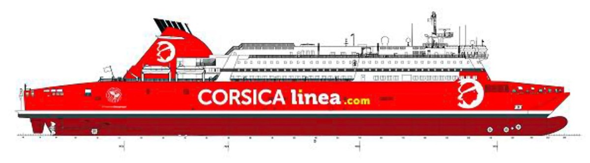 Side profile drawing of A NEPITA. Corsica Linea