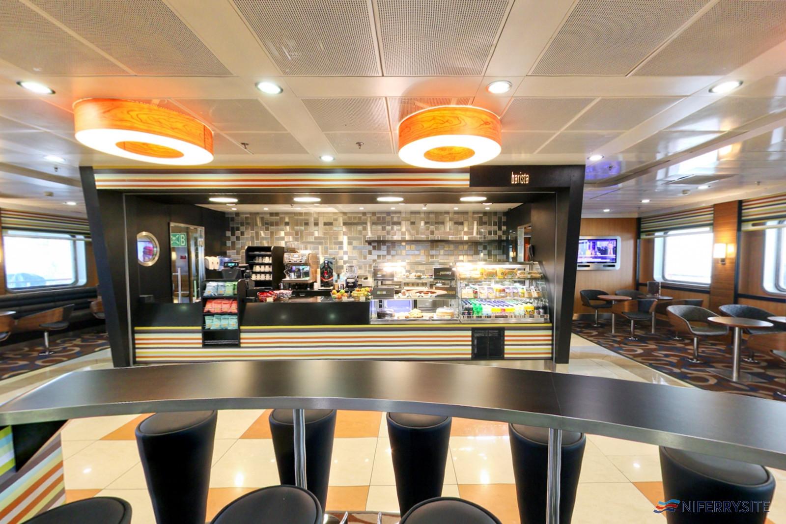 The Barista Coffee House on Stena Lagan/Stena Mersey. Stena Line.