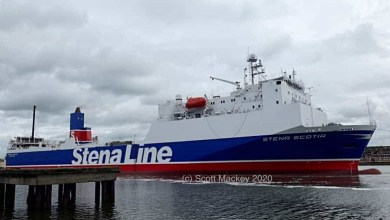 Photo of Stena Scotia ready to Return to Heysham Route