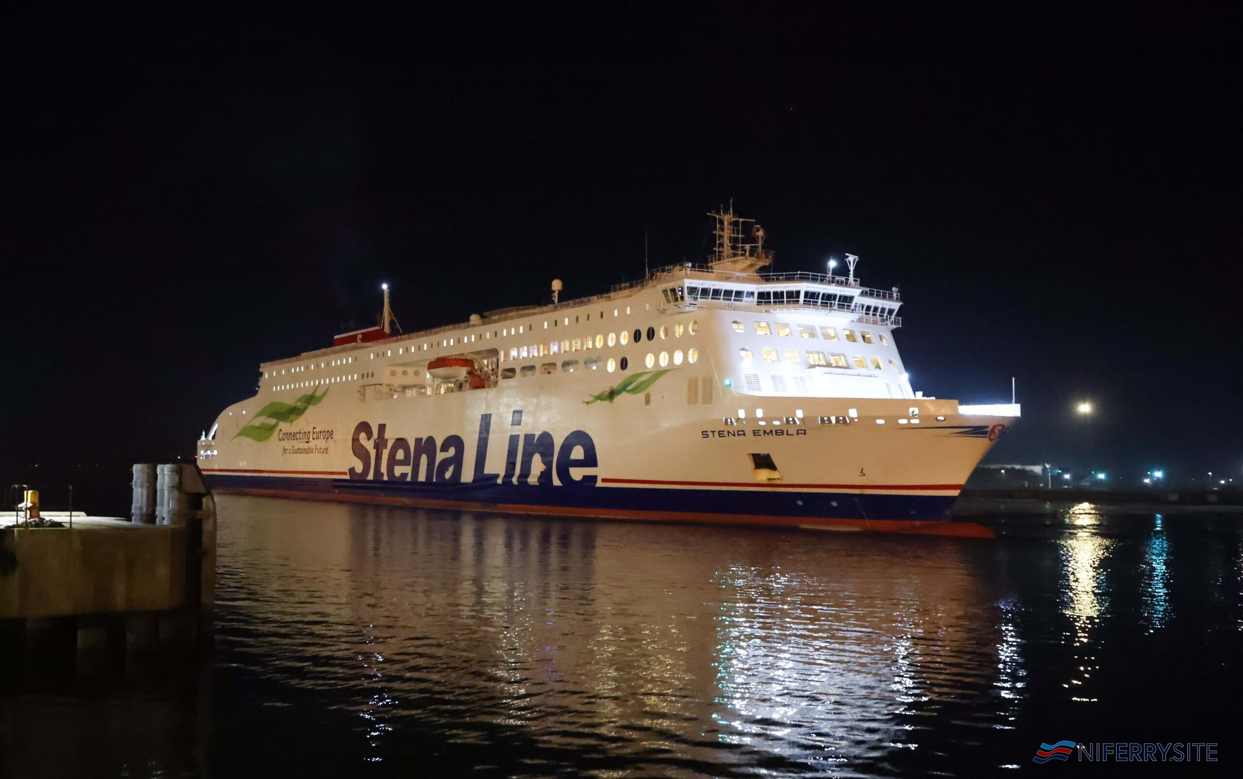 STENA EMBLA MAKES FIRST BELFAST-LIVERPOOL CROSSING…Stena Line's newest ship on the Irish Sea has made its inaugural crossing on the Belfast-Liverpool service. Stena Embla will join her sister ship Stena Edda on the popular Belfast – Liverpool route with the capacity to carry 1,000 passengers, 120 cars and with 3,100 freight lane meters