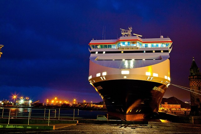 Seatruck Progress at Liverpool. Courtesy of Seatruck Ferries.