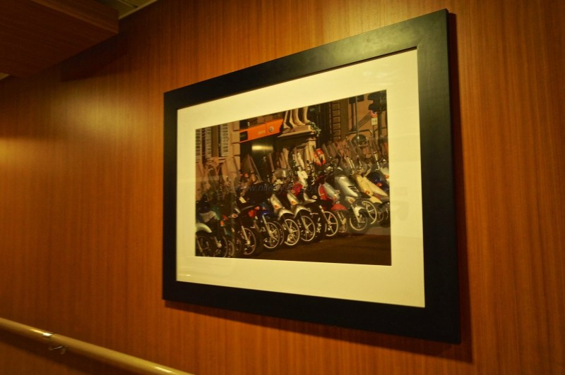 One of a few pictures hanging throughout the ship which hint at the vessel's Italian heritage. © NIFerrySite