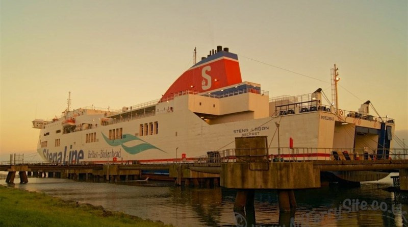 Stena Lagan, alongside VT2, Belfast. Viewed from the freight yard at VT2. Taken following a visit to Stena Lagan on 2nd November 2015. With many thanks to Captain Stephen Millar for his hospitality.