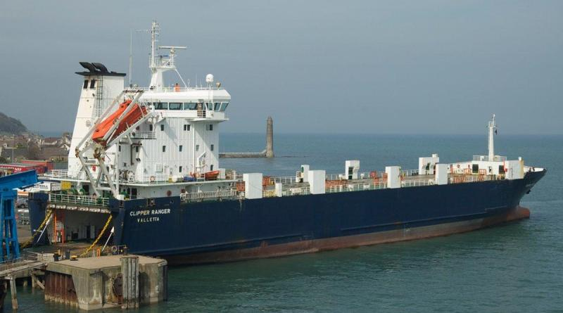 Clipper Ranger pictured at Larne. Image courtesy of Seatruck Ferries.