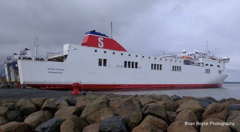 Stena Flavia alongside at Rosslare following her arrival from the Baltic. Copyright © Brian Boyce.