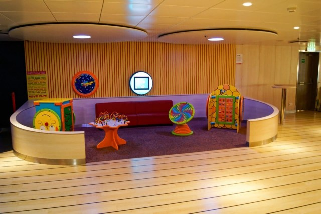 Furthest forward in the lounge is this small area, which I assume is aimed at toddlers. Copyright © Steven Tarbox.