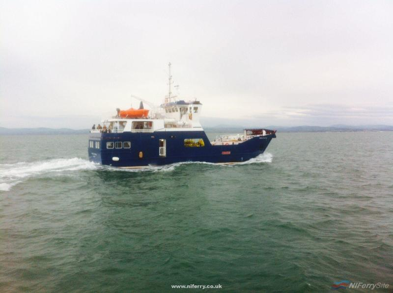 Spirit of Rathlin on her first day of sea trials. Courtesy of Arklow Marine Services.
