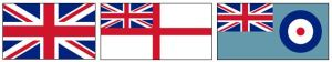 Flags of the Army, Royal Navy and Royal Air Force
