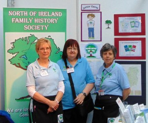 The Education & Development Officer, President & Chairperson representing the Society at an event in Dublin