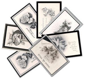 Mourning cards image