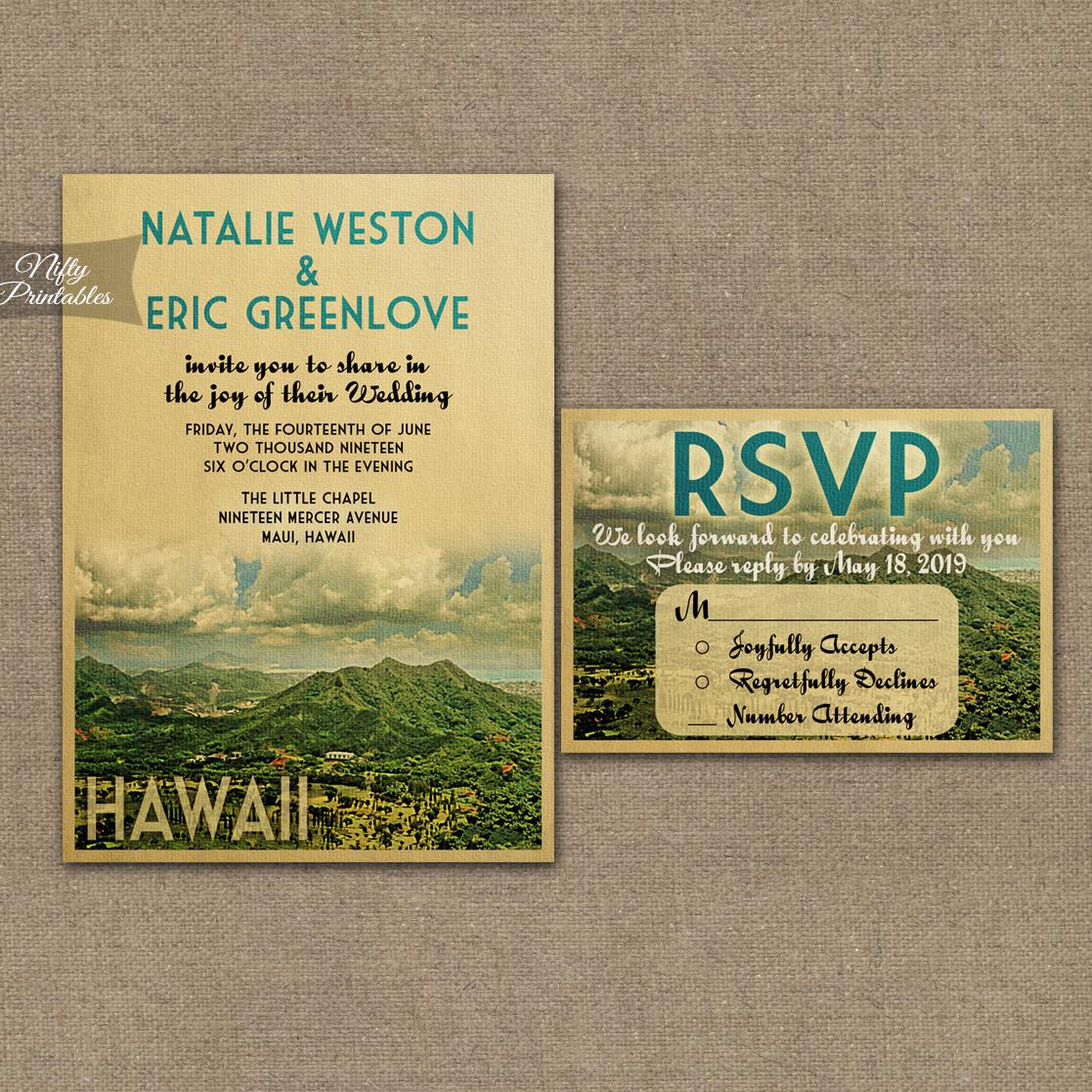 Hawaii Save The Date Postcards Vtw