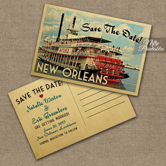 Custom Printed Save Date Cards