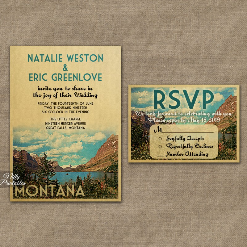 Save Date Cards Travel Theme