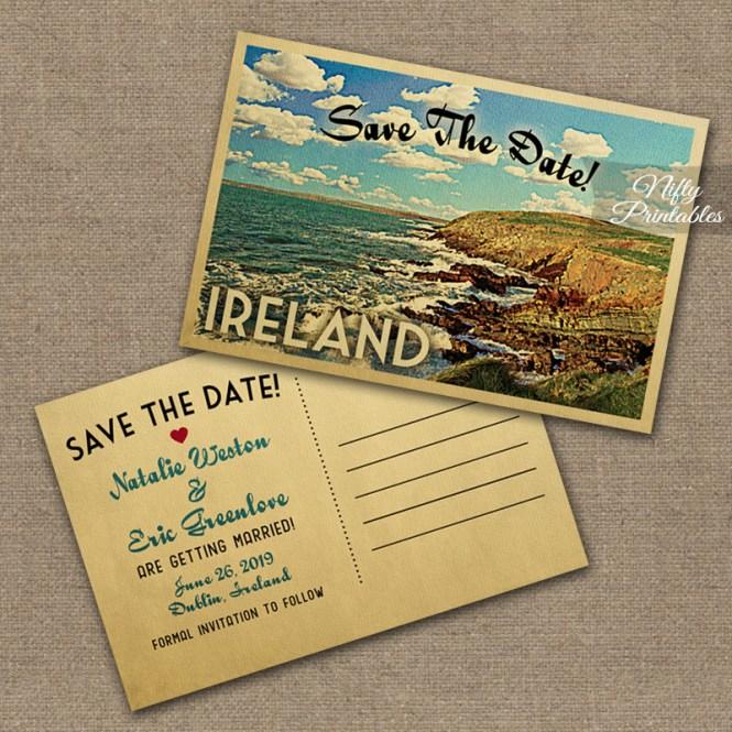 Ireland Wedding Invitations Vtw Nifty Printables