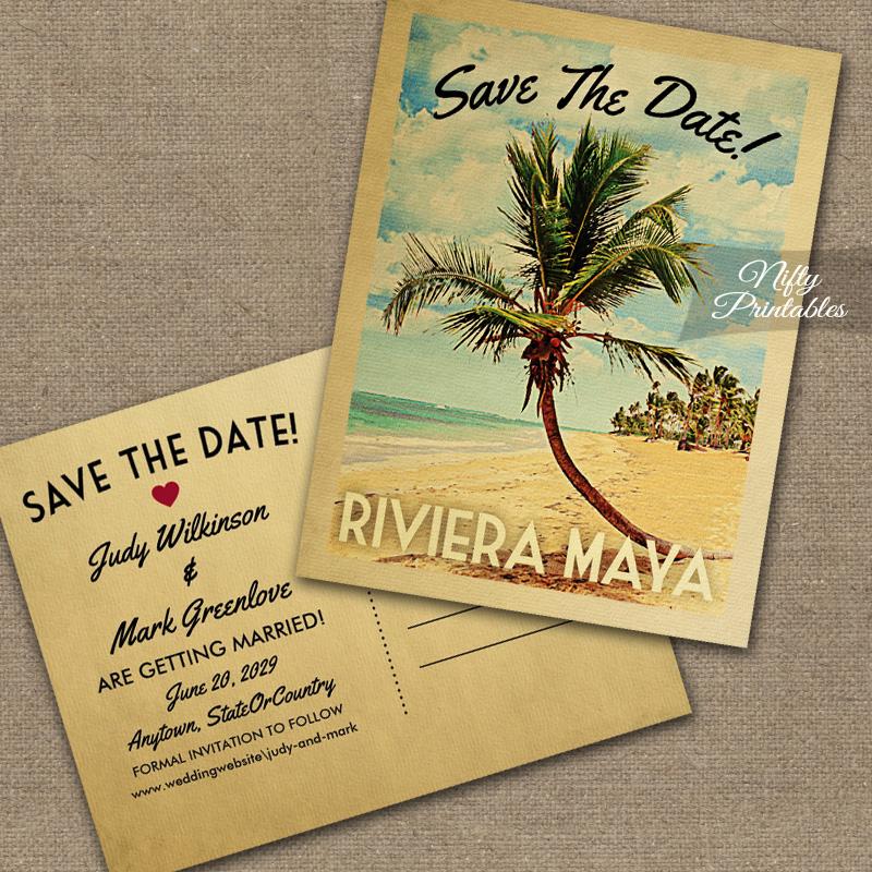 Save Date Cards Beach Theme