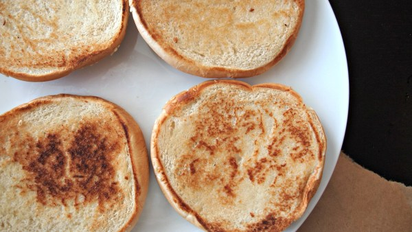 Toassted Buns for Muffaletta Sandwiches