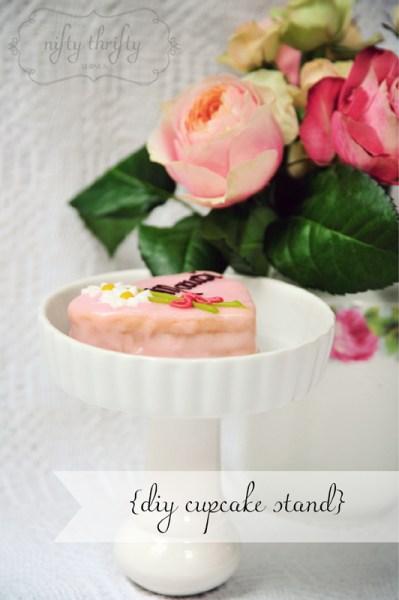 {DIY cupcake stand}