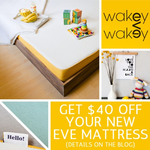 Save $40 OFF your new eve mattress
