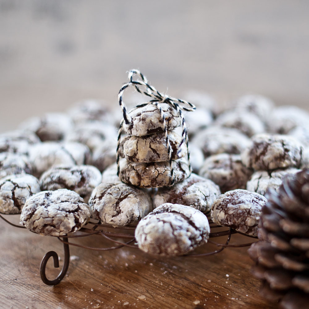 Delicious Espresso Crinkle Cookies from {nifty thrifty things}