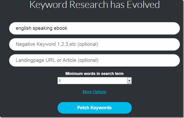 Keywordstream to find long tail keywords