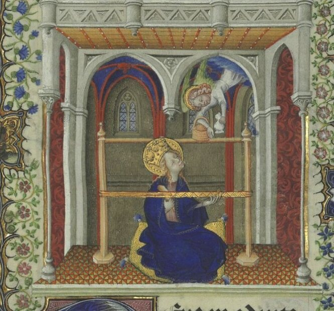 Horae ad usum Parisiensem [Grandes Heures de Jean de Berry] fol 34r,   1400-1410