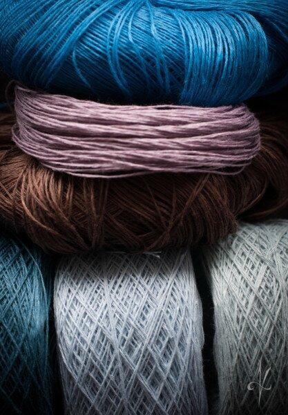 Palette of flax yarns - ready to weave| nigdziekolwiek.com