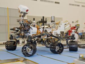 Curiosity rover turning testing
