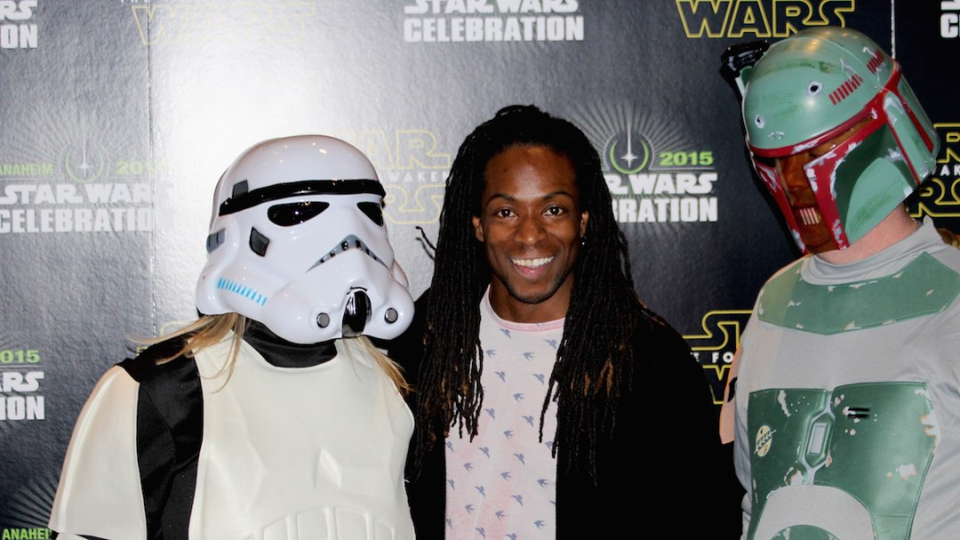 British TV Presenter Nigel Clarke with Star Wars Fans @ Star Wars Celebration 2015