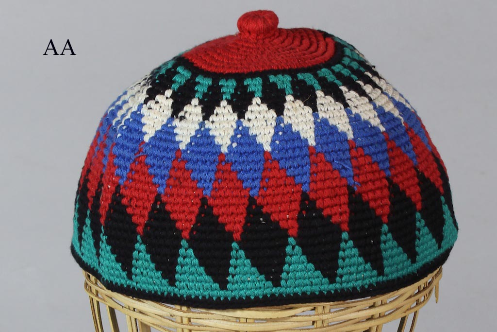 Multicolor Woven Kufi Close Fit Mens Cotton Hat Large