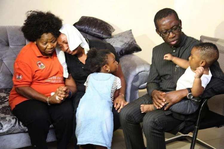 Okowa with Ngozi's wife and children