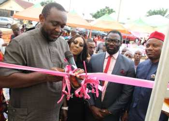 The Chairman of Ogba/Egbema/Ndoni LGA of Rivers State, Hon. Ifeanyi Odili commissioning the ultra modern ICT Centre donated by NAOC to Obrikom community