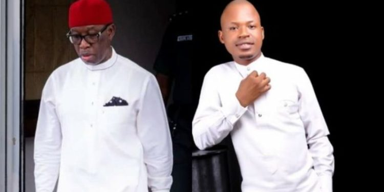 Governor Ifeanyi Okowa and suspended Ovie Ossai