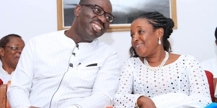 Governor Godwin Obaseki of Edo State and wife, Betsy
