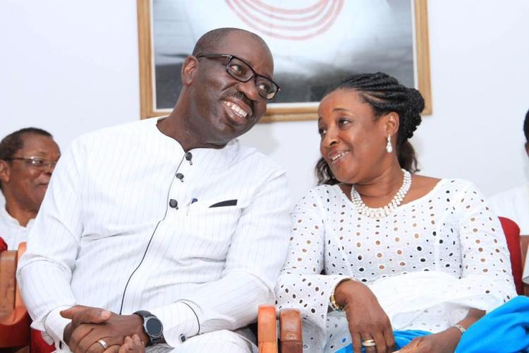 Governor Godwin Obaseki of Edo State and wife, Betsy