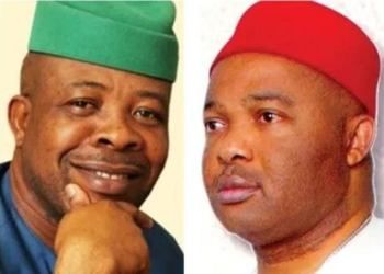Ex-Gov Emeka Ihedioha and Gov Hope Uzodinma of Imo State